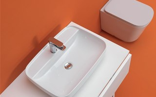 Mobile bagno con lavabo da appoggio puro design dalani e ora