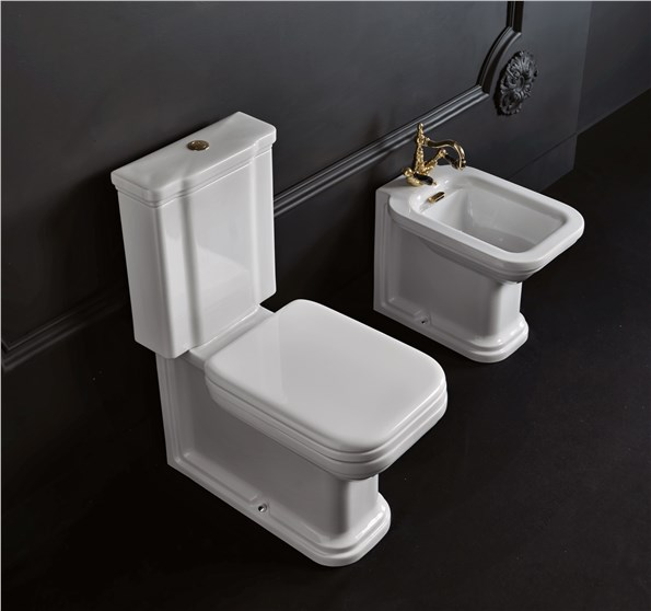 "Close coupled wc pan con cassetta monoblocco cod 4117, Close coupled wc pan con cassetta monoblocco cod 4181, Bidet ""PROLUNGATO"" cod 4120"